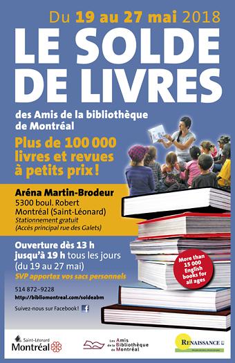 Affiche Solde de livres de bibliothèques de Montréal 2018