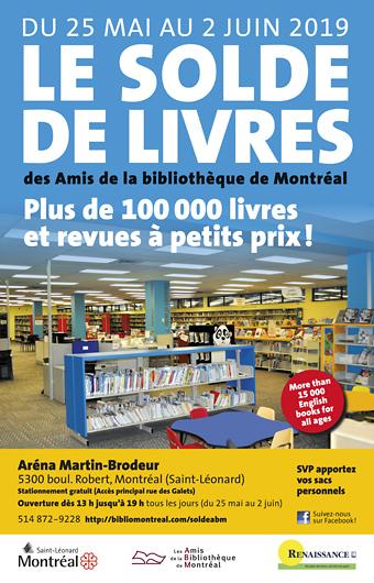 Solde de livres usagés des bibliothèques de Montréal