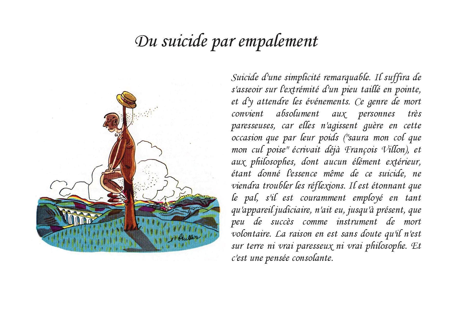 Du suicide par empalement