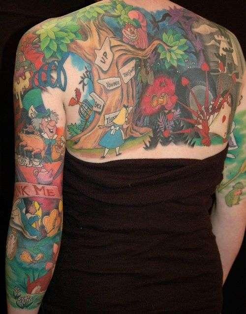 - Tatouage Alice au pays des merveilles