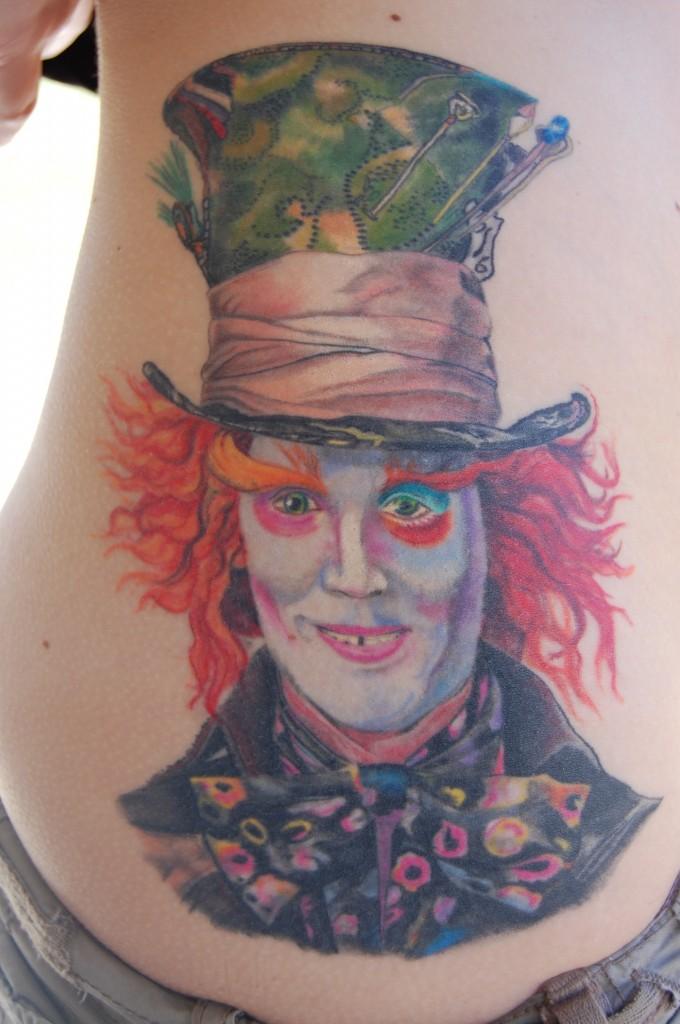 Chapelier fou selon Tim Burton - Tatouage Alice au pays des merveilles