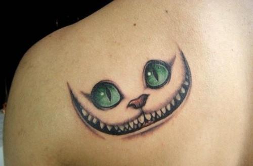 Le Chat du Cheshire - Tatouage Alice au pays des merveilles