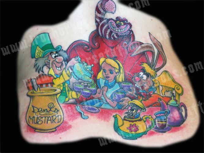 Tea Party - - Tatouage Alice au pays des merveilles