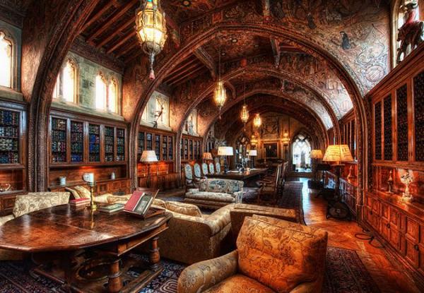 Bibliothèque Hearst Castle Gothic Study – États-Unis