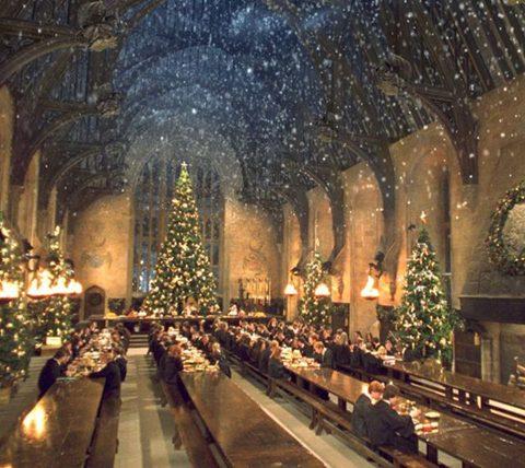 Noël dans la grande salle - Harry potter