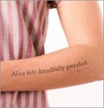 2500 tatouages d'Alice au pays des merveilles